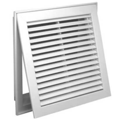 """30"""" x 12"""" (Wall Opening Size) White Steel Fixed-Bar Filter Grille (96AFB Series) Product Image"""