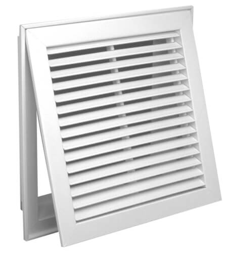 """30"""" x 20"""" (Wall Opening Size) White Steel Fixed-Bar Filter Grille (96AFB Series) Product Image"""