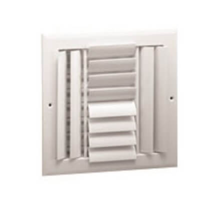 """10"""" x 10"""" (Wall Opening Size) White Sidewall/Ceiling Register (A614MS Series) Product Image"""