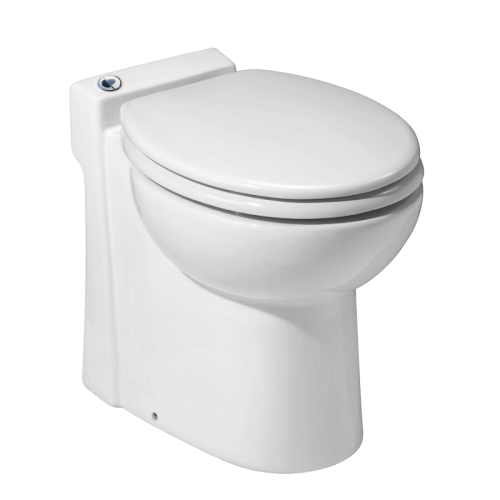 Sanicompact One Piece Toilet w/ Macerator Built into the Base (White) Product Image