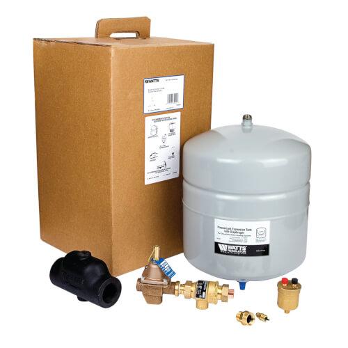 "HPX-C Boiler Trim Kit w/ Check Valve, 1"" NPT Air Separator, & 2.1 Gal. Expansion Tank Product Image"