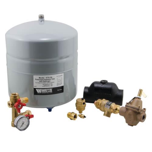 "HPX-D Boiler Trim Kit w/ Check Valve, 1-1/4"" NPT Air Separator, & 4.5 Gal. Expansion Tank Product Image"