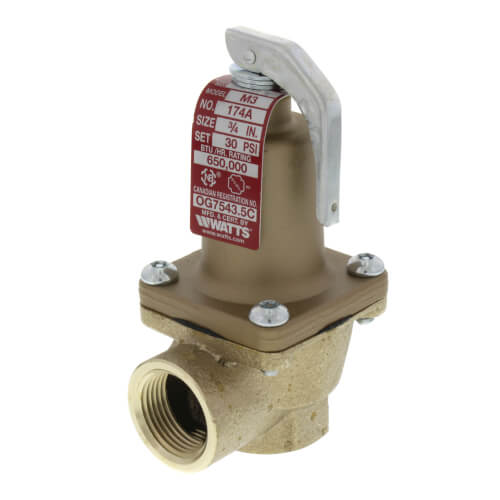 """3/4"""" 174A Relief Valve (30lb) Product Image"""