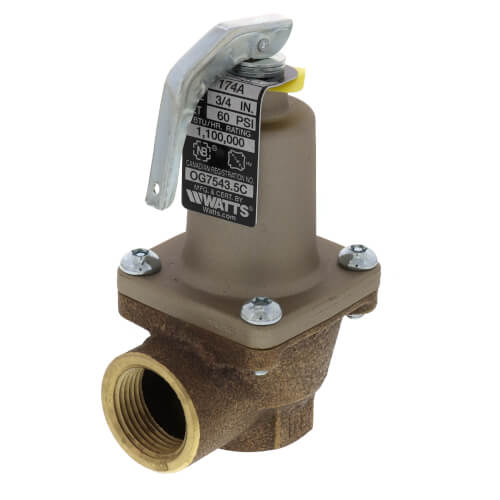 """3/4"""" 174A Relief Valve (60 psi) Product Image"""