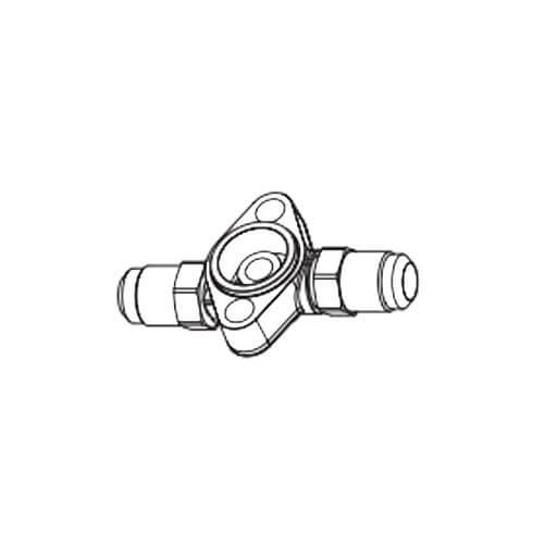 "3/8"" x 1/2"" ODF T-Series Take-Apart Straight-Thru Flange Product Image"