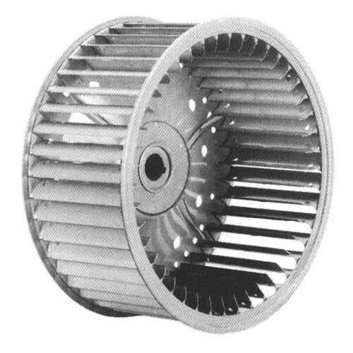 "6-5/16"" x 3-13/16"" Direct Drive Single Inlet Blower Wheel (3450 RPM, CCW, 1/2"" Bore) Product Image"
