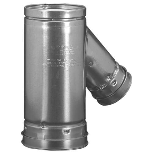 "5"" x 5"" x 3"" B Wye Gas Vent (5RYF53) Product Image"