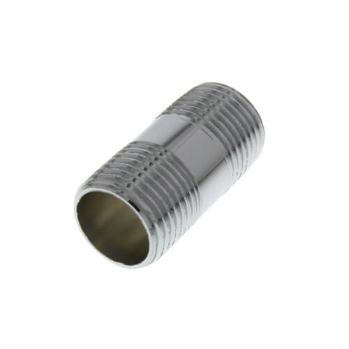 "1/2"" x 1-1/2"" Chrome Brass Nipple (Lead Free) Product Image"