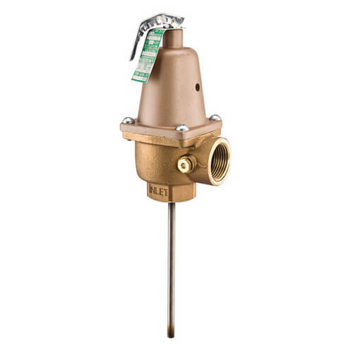 "1"" N240X6 T&P Relief Valve, 110-210 psi Product Image"