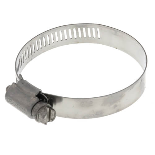 """1-9/16""""- 2-1/2"""" #32 Stainless Steel Hose Clamp w/ Carbon Screw Product Image"""