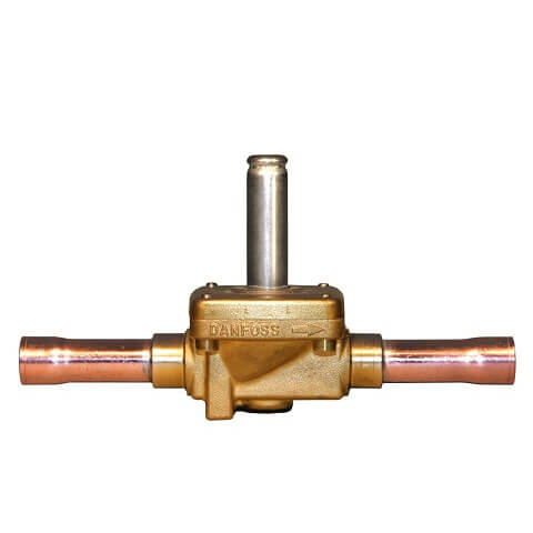 """3/8"""" ODF EVR6 Normally Closed Solenoid Valve w/ Manual Stem Product Image"""