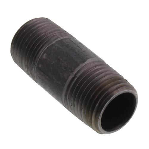 """1/2"""" x 2"""" Black Nipple Product Image"""