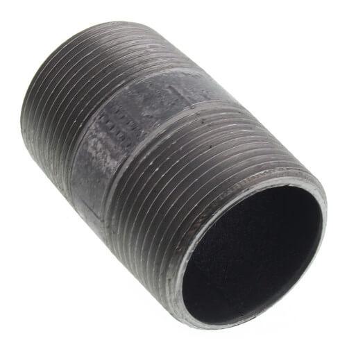 """1-1/4"""" x 2-1/2"""" Black Nipple Product Image"""