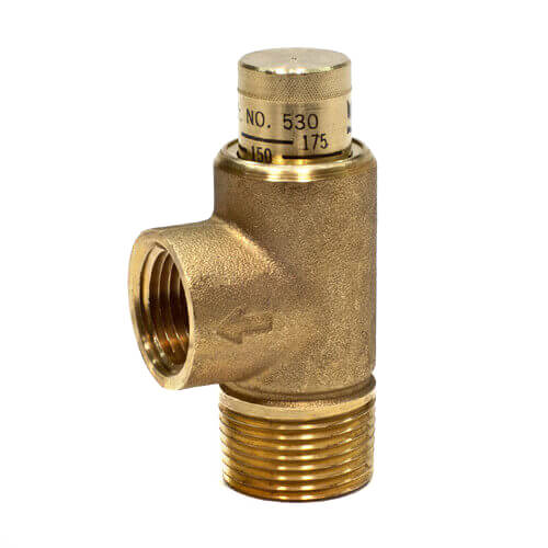 """3/4"""" 530C Poppet Style Relief Valve, 100-300 psi Adjustable (Lead Free) Product Image"""