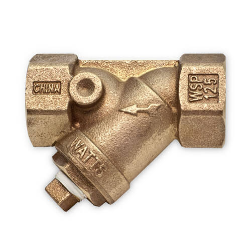 "1-1/2"" LF777SM1-20 Lead Free Bronze Wye Strainer (Threaded) Product Image"