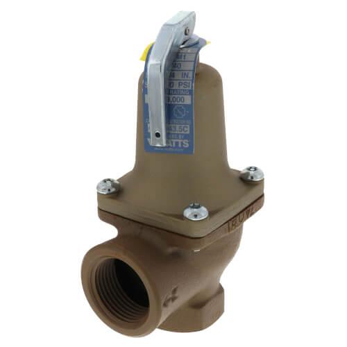 "3/4"" x 1"" Boiler Pressure Relief Valve (40 psi) Product Image"