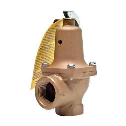 "1"" x 1-1/4"" Boiler Pressure Relief Valve (45 psi) Product Image"