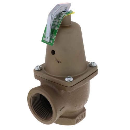 "1"" x 1-1/4"" Boiler Pressure Relief Valve (50 psi) Product Image"