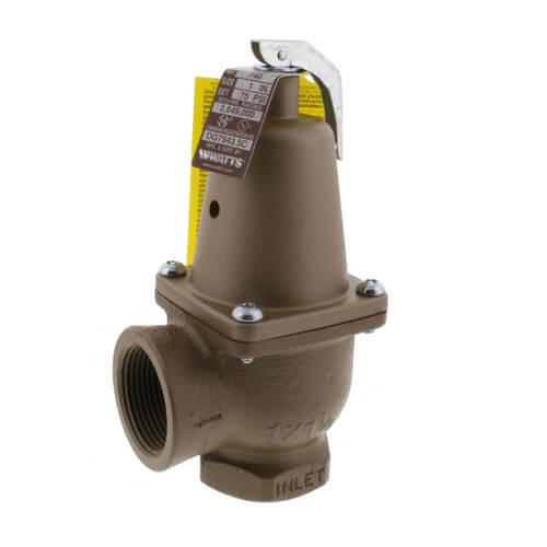 "1"" x 1-1/4"" Boiler Pressure Relief Valve (75 psi) Product Image"