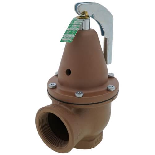 "1-1/2"" x 2"" Boiler Pressure Relief Valve (50 psi) Product Image"