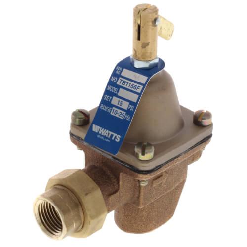 "TB1156F 1/2"" Bronze High Capacity Feed Water Pressure Regulator Product Image"