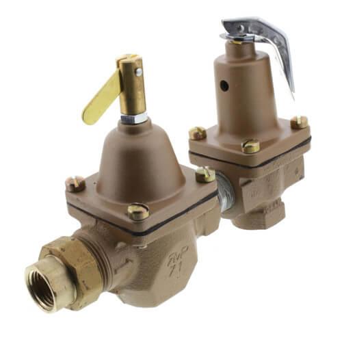 "1/2"" T1450F Pressure Regulator & Relief Combo (Union Threaded) Product Image"