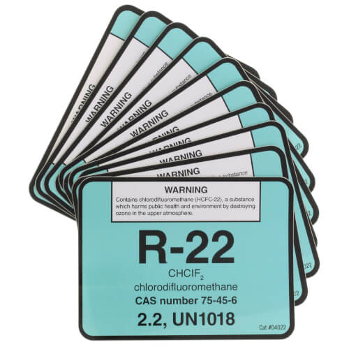 R-22 Cylinder Tank Label (Pack of 10) Product Image
