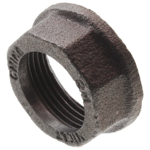 "3/4"" Black Gas Meter Nut Product Image"