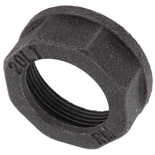 "1"" Black Gas Meter Nut Product Image"