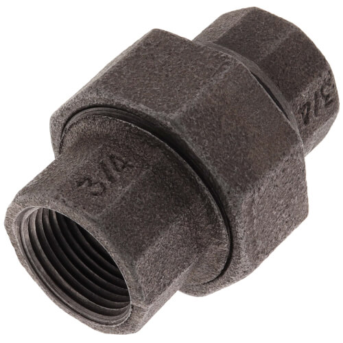 "3/4"" Black Malleable Iron Insulated Union Product Image"