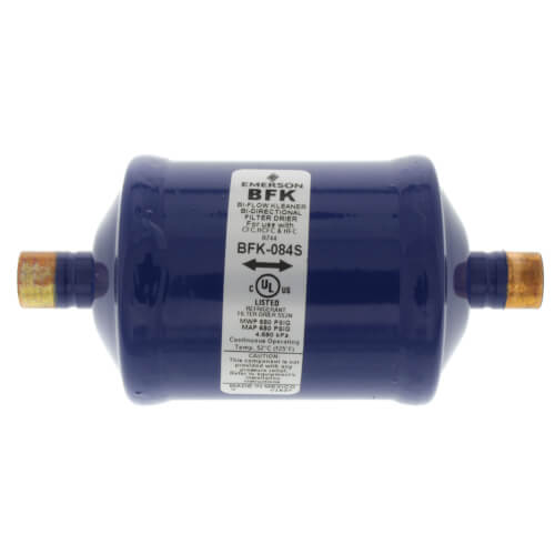 "1/2"" ODF BFK-Series Liquid line Bi-Directional Filter Drier (8 Cubic Inches) Product Image"