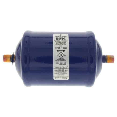 "3/8"" ODF BFK-163S Series Liquid line Bi-Directional Filter Drier (16 Cubic Inches) Product Image"