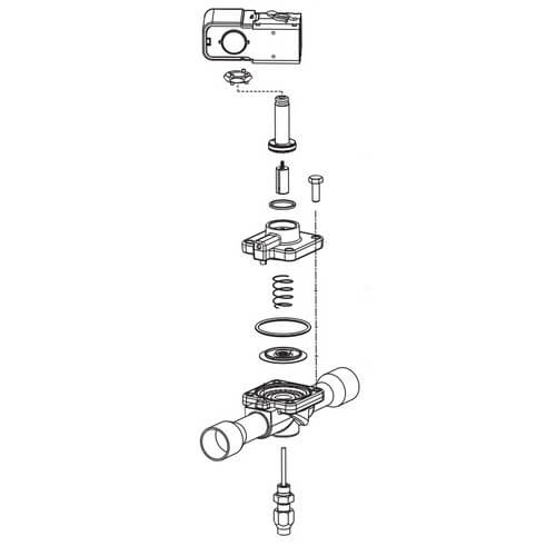 """1"""" ODF 240R-Series Solenoid Valve Kit Product Image"""