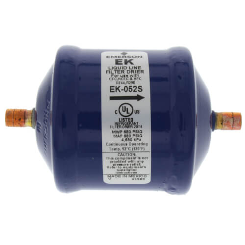 "1/4"" ODF EK-Series Liquid line Filter Drier (5 Cubic Inches) Product Image"