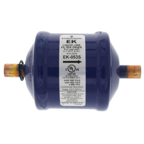 """3/8"""" ODF EK-Series Liquid line Filter Drier (5 Cubic Inches) Product Image"""
