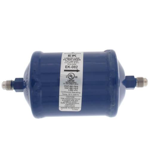 "1/4"" SAE EK-Series Liquid line Filter Drier EK-082 (8 Cubic Inches) Product Image"