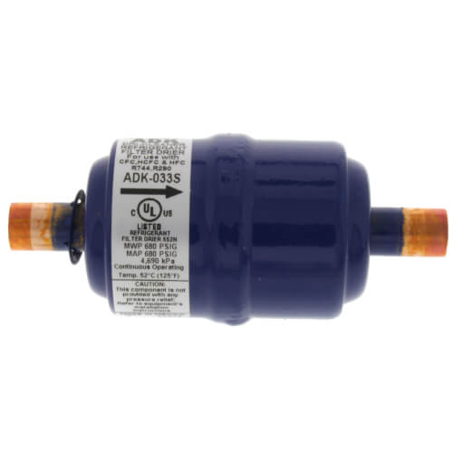 """3/8"""" ODF ADK033S-Series Core Liquid Line Filter Drier (3 Cubic Inches) Product Image"""