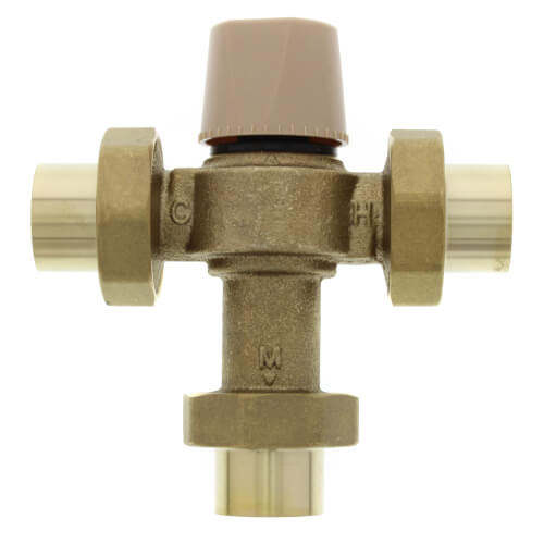 """1"""" LFMMVM1-US Lead Free Mixing Valve (Sweat) Product Image"""
