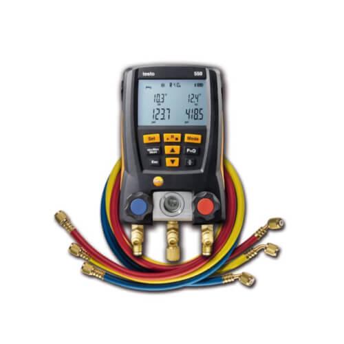 550, Refrigeration & Heat Pump Digital Manifold w/ Bluetooth & Set of 3 Hoses (-58° to 302°F) Product Image