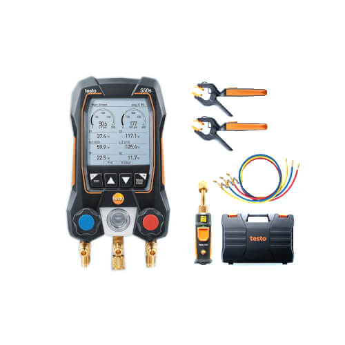 550S Kit, 2-Valve Smart Digital Manifold w/ 2 Wireless Pipe Clamp Temp. Probes, Wireless Vacuum Probe & 3 Hoses Product Image