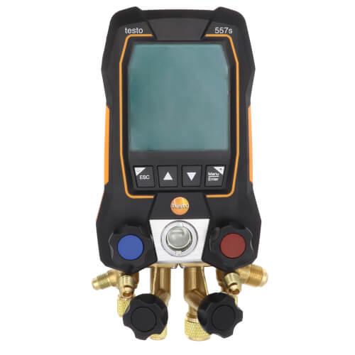 557S Kit, 4-Valve Smart Digital Manifold w/ 2 Wireless Pipe Clamp Temp. Probes, Wireless Vacuum Probe & 4 Hoses Product Image