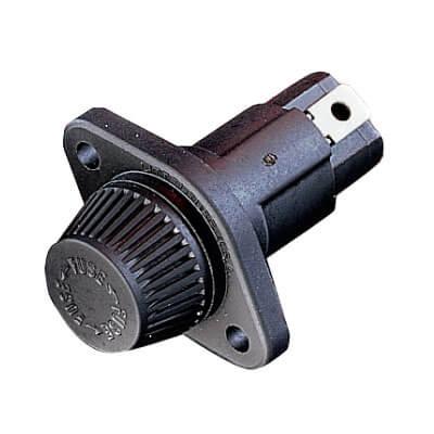 "30 Amp Panel Mount Straight Fuse Holder, 1-5/16"" to 1-3/8"" Range (600V) Product Image"