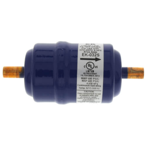 """1/4"""" ODF EK032S-Series Liquid Line Filter Drier (3 Cubic Inches) Product Image"""