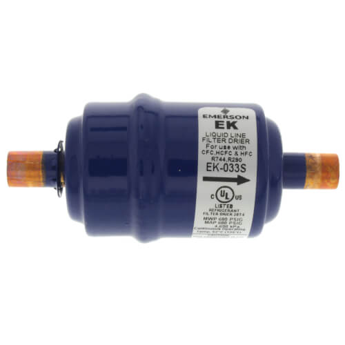 "3/8"" ODF EK033S-Series Liquid Line Filter Drier (3 Cubic Inches) Product Image"