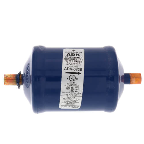 "3/8"" ODF ADK083S-Series Core Style Liquid Line Filter Drier (8 Cubic Inches) Product Image"