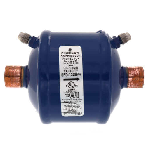 """3/8"""" ODF SFD13S3VV Suction Line Filter Drier (13 Cubic Inches) Product Image"""