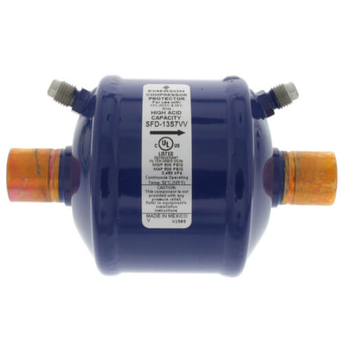 "7/8"" ODF SFD13S7W-Series Suction Line Filter Drier (13 Cubic Inches) Product Image"