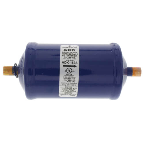 """3/8"""" ODF ADK163S-Series Core Style Liquid Line Filter Drier (16 Cubic Inches) Product Image"""