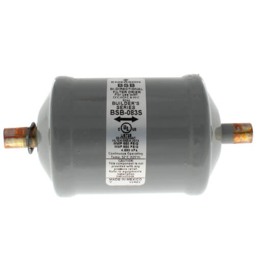 "BSB-083S 3/8"" ODF Sweat Bi-Flow Builder's Series Filter Drier (8 cubic inches) Product Image"
