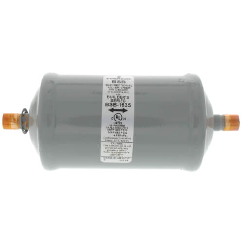 """BSB-163S 3/8"""" ODF Sweat Bi-Flow Builder's Series Filter Drier (16 cubic inches) Product Image"""